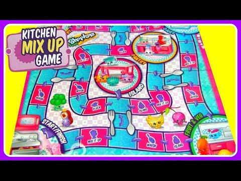 Shopkins Kitchen Mix Up Board Game + SURPRISE SHOPKINS!  FUN GAMES FOR KIDS!