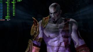 God of War 3 [RPCS3/PS3 Emulator] Gameplay [Boss: Hades] {SPU LLVM Recompiler Test} on Windows 10 PC