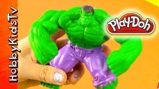 PLAY DOH Super Hero - Spiderman, Hulk, Ironman, Captain America, Wolverine, Thor, Zurg