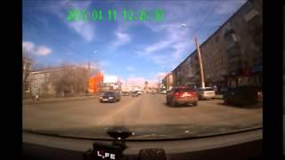 Видео участника ДТП. В Кургане столкнулись четыре автомобиля