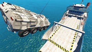Epic High Speed Car Jumps #3 BeamNG drive