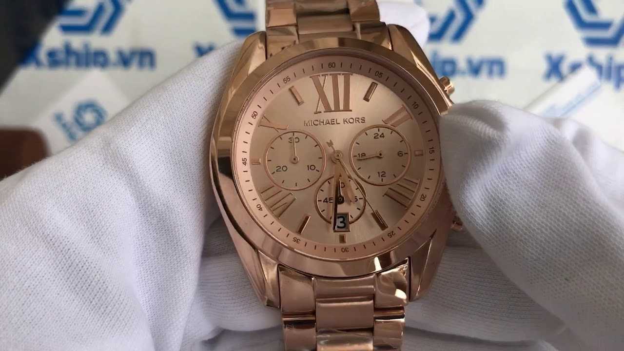 be41bfb353b1 Xship.vn  MICHAEL KORS Bradshaw Oversize Chronograph Rose Gold-tone Ladies  Watch Item No. MK5503