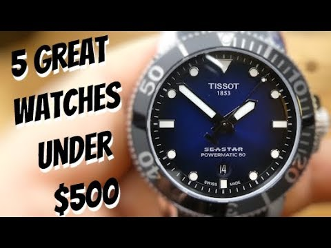 Five Great Watches Under $500 Dollars Tissot Zelos Bulova Seiko And Hamilton