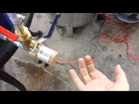 12 volt dc pump recirculating water test