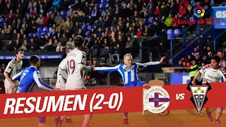 Resumen de RC Deportivo vs Albacete BP (2-0)