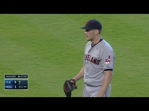 CLE@HOU: Tribe pitches combine for 16 strikeouts