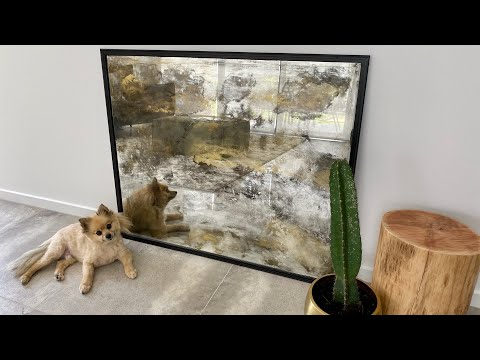 DIY  Distressed / Antique Mirror