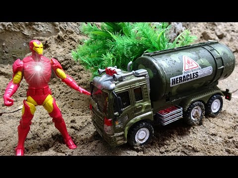 Iron Man rescue the car crash H16M – toys for kids