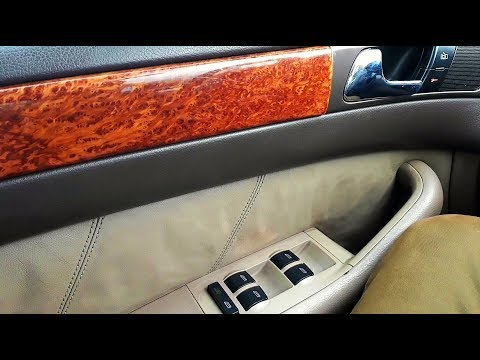 Ремонт кнопки блокировки задних стеклоподъемников на Audi A6 C5