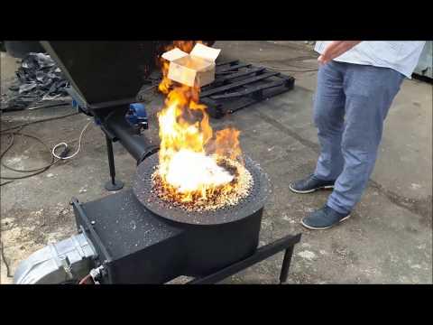 Автоматический розжиг пеллет на ретортной горелке ВСКЗ