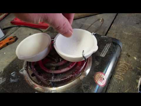 How to flux prep precious metal silver melting dish with borax