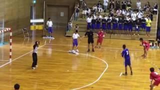 滋賀県中学ハンドボール鳥居本中学7メートルスロー