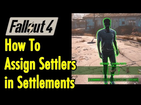 How to Assign Settlers in Settlements | Fallout 4 | xBeau Gaming