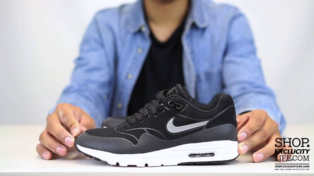 c462e7267911 Women s Air Max 1 Ultra Essential Black Anthracite Unboxing Video at  Exclucity