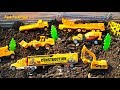 Construction Vehicles Toy Unboxing - Playing with Diggers + Toy Trucks, King Cool Part 1