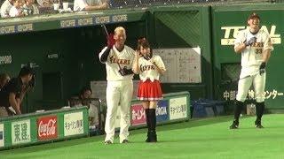 2017年7月4日、東京ドームでの北海道日本ハムファイターズ公式戦にて、...