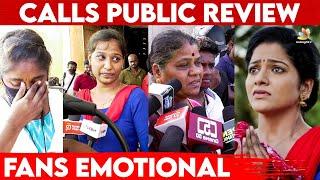 கலங்கிய VJ Chithu ரசிகர்கள் 😭 | Calls Movie Public Review | J Sabarish | FDFS Theatre Response