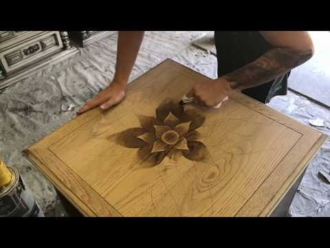Trying Shading With Wood Stain - Painted End Table Makeover