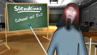 Slendrina Teaches Us HER SECRETS AT HER HAUNTED SCHOOL!!! | Slendrina: The School Gameplay