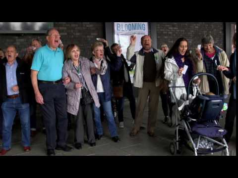 Traveline Cymru flash mob in Newport