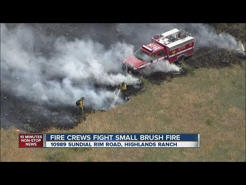Crews battle wildfire in Highlands Ranch