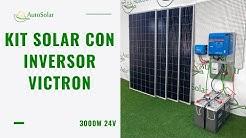 Kit Solar Victron Vivienda Aislada 3000W 24V 8000Wh/dia