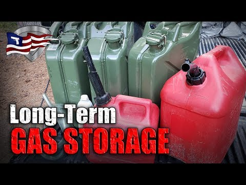 How To Store Gasoline Long-Term / Emergency Fuel Storage