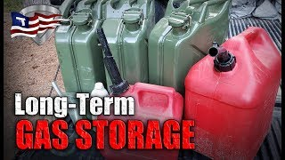 How To Store Gas๐line Long-Term / Emergency Fuel Storage