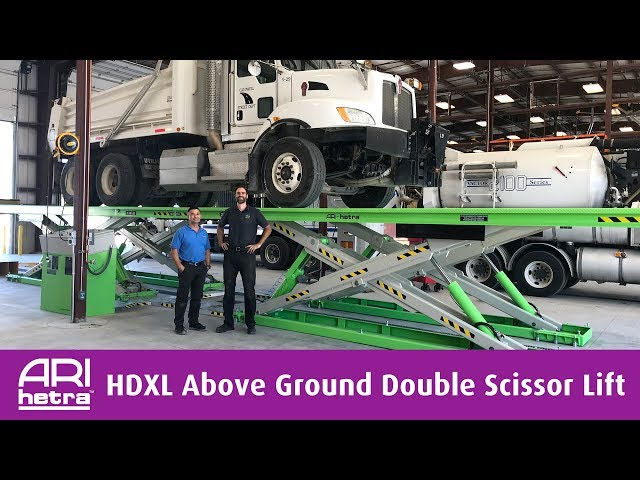 The City of Caldwell's New HDXL Double Scissor Lift Cuts Down On Service Time