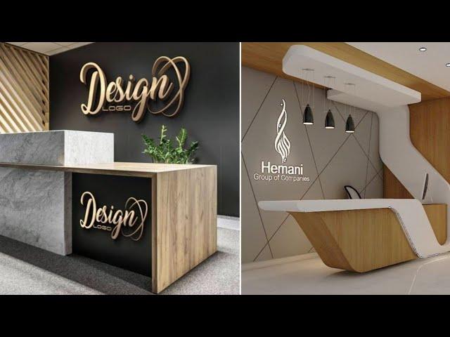Modern Office Reception Desks Interior, Small Reception Desk Ideas
