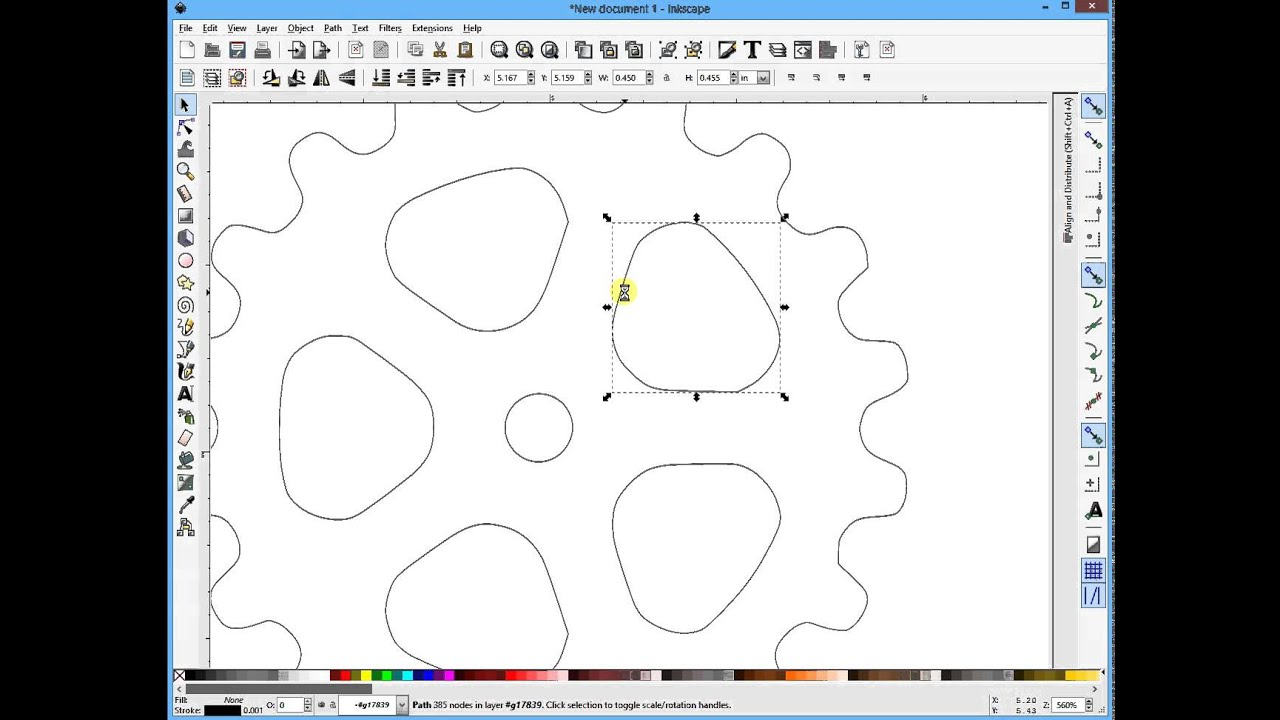 Fixing Segmented lines in Inkscape