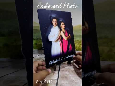 3D COUPLE EMBOSS ON WOOD CUT OUT PHOTO FRAME WITH STAND | PERSONALIZED PHOTO GIFTS