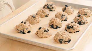 자세한 설명과 함께♥비건 그래놀라 쿠키♥밀가루, 설탕, 버터 대신 오트밀, 메이플 시럽, 코코넛 오일이 들어간 아침 대용 쿠키입니다.