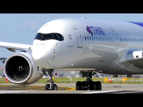 POWERFUL Airbus A350 CLOSE-UP Takeoffs | Melbourne Airport Plane Spotting