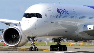 POWERFUL Airbus A350 CLOSE-UP Takeoffs   Melbourne Airport Plane Spotting