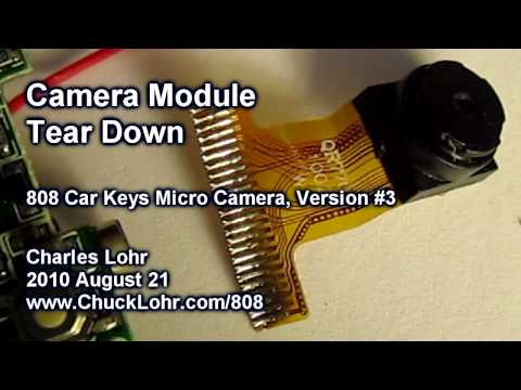 Tear Down, Camera Module, #3 808 Car Keys Micro Camera