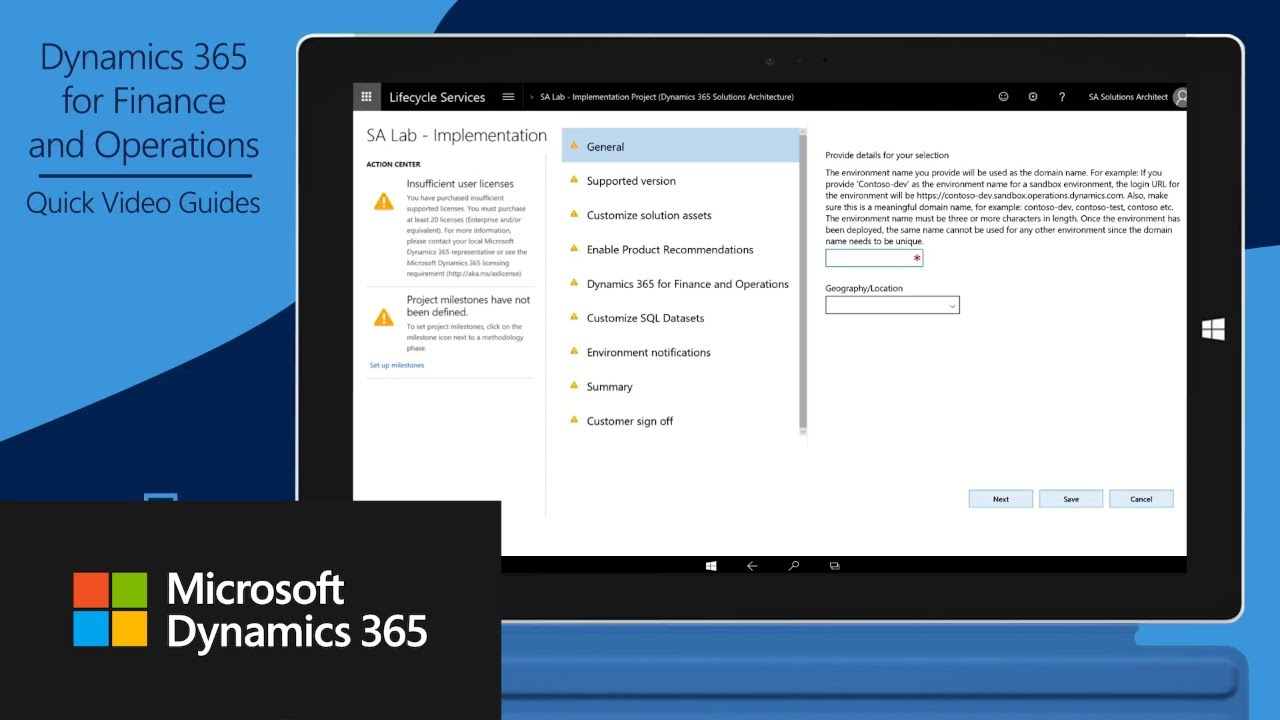 Request a Dynamics 365 for Finance and Operations production environment