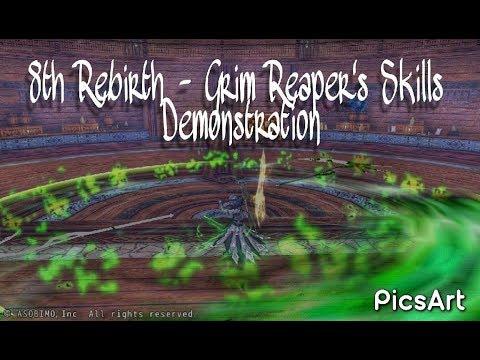 8th Rebirth - Grim Reaper's Skills Demonstration