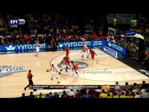 ΤΣΣΚΑ Μόσχας - Ολυμπιακός 78-82 Highlights   Final Four Euroleague - Ημιτελικός {19/5/2017}