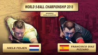 Niels Feijen - Francisco Diaz Pizzaro | World 9-Ball Championship 2018
