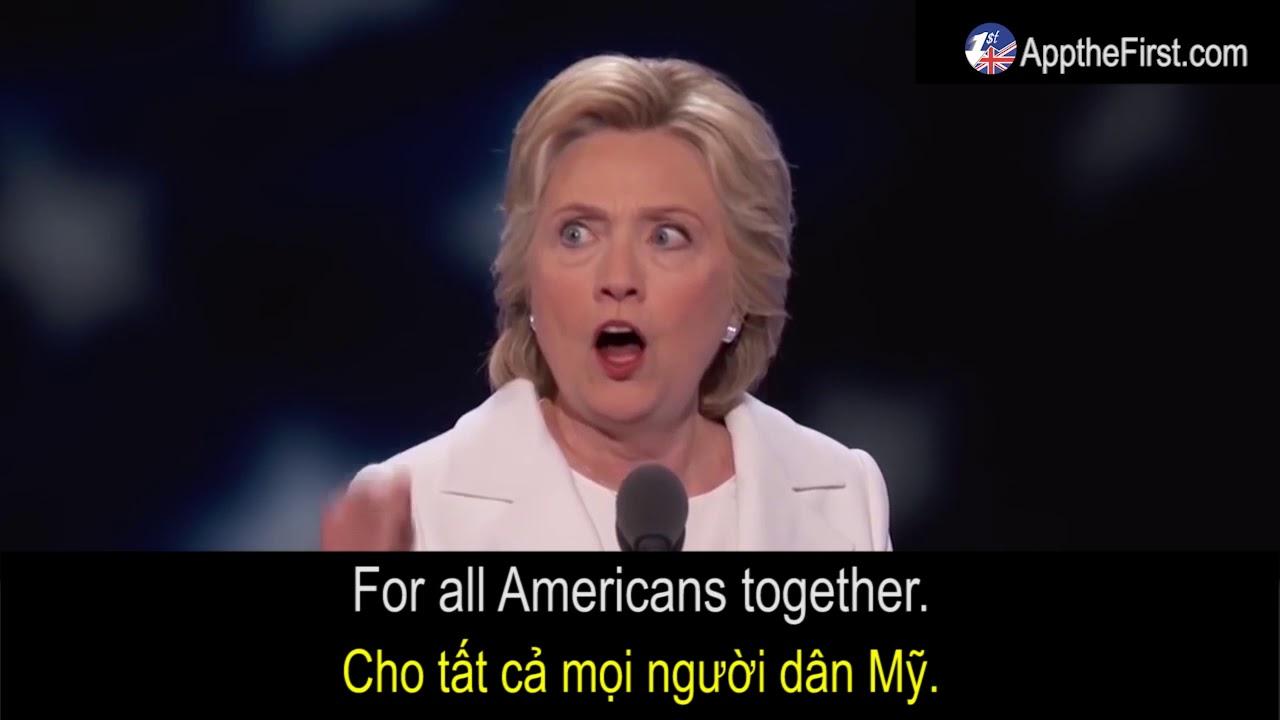 Học Tiếng Anh Với người Nổi tiếng – Hillary Clinton Speech