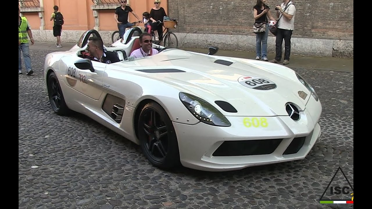 mclaren mercedes slr club & amg gt - 1000 miglia 2015 - youtube