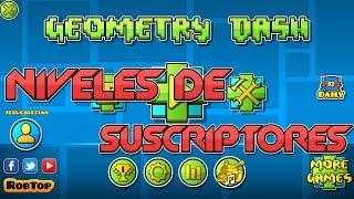 Jugando vuestros niveles (Niveles de suscriptores) en Geometry Dash