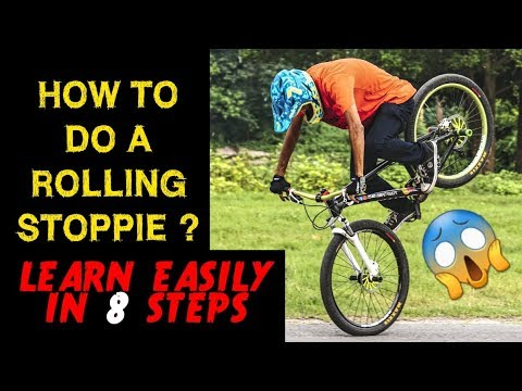 How to do a ROLLING STOPPIE ? | Infinity Riderzz Kolkata | MTB Stunts 2018