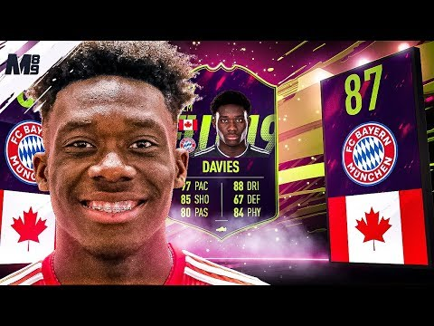 FIFA 19 FUTURE STAR ALPHONSO DAVIES REVIEW | 87 ALPHONSO DAVIES PLAYER REVIEW FIFA 19 ULTIMATE TEAM