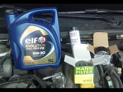 Рено Меган 3. Замена масла в двигателе. - Renault Megane 3 1.5 DCi. Replacing The Oil In The Engine.