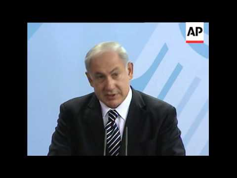 German Chancellor Merkel and Israeli PM Netanyahu presser