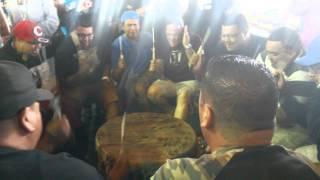 Bear creek singers live at Onion lake pow wow 2014
