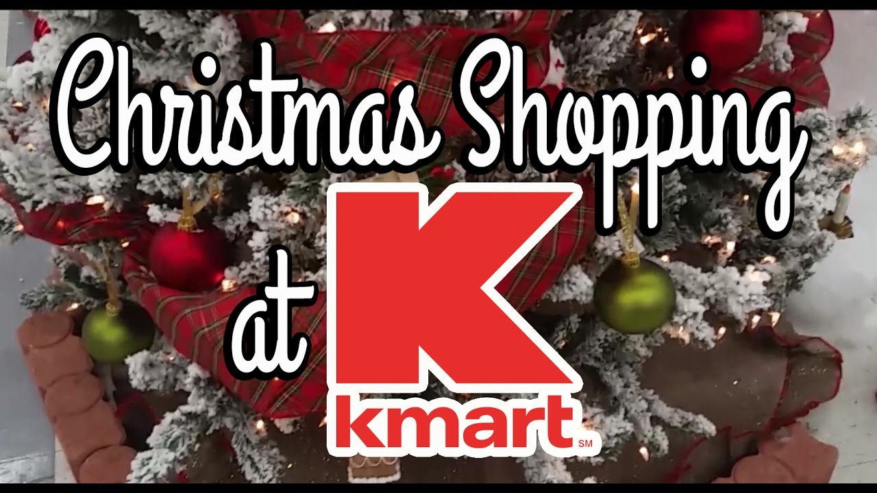 Christmas Shopping at Kmart - Follow Me Around - YouTube