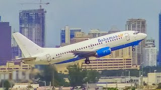 (4K) Afternoon Departures at Fort Lauderdale Hollywood Int